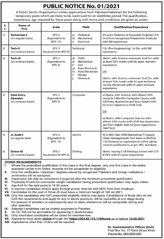 Atomic Energy Jobs 2021 in PAEC PO BOX 27